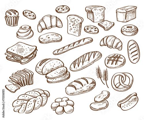 bread on white background - 70306185