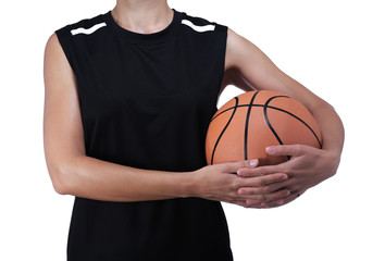 basketball player holding a ball