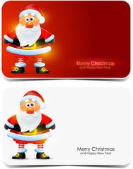 Santa Claus gift cards