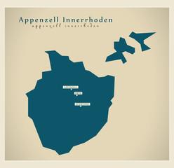 Moderne Landkarte - Appenzell Innerrhoden CH