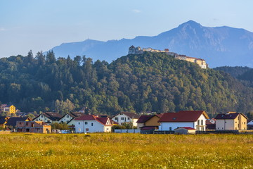 Rasnov fortress and Bucegi mountains, Romania