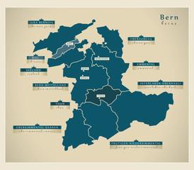 Moderne Landkarte - Bern CH