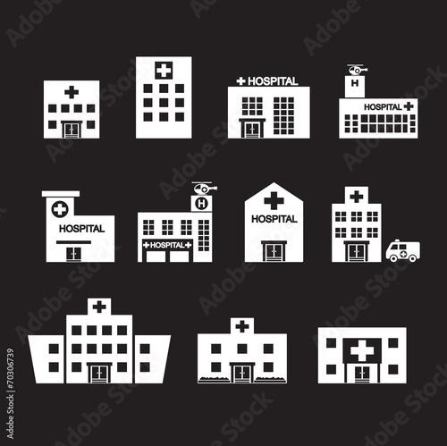 hospital icon set - 70306739