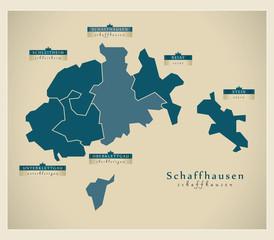 Moderne Landkarte - Schaffhausen CH