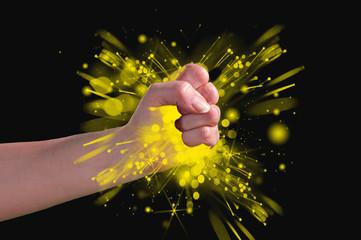 a fist of stars