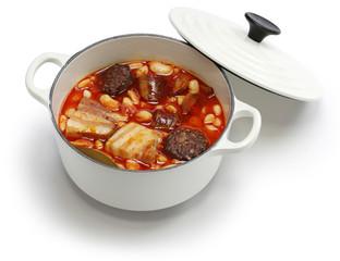 fabada asturiana, spanish white bean stew