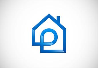 house abstract realty vector logo