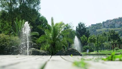 Yeşil doğal fon