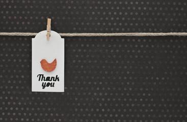 Cartellino ringraziamento