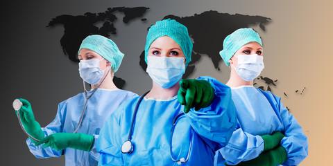 Ärztin Krankenschwester Welt