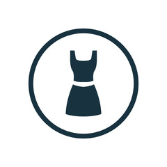 classic dress circle background icon.
