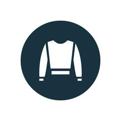 shirt circle background icon.