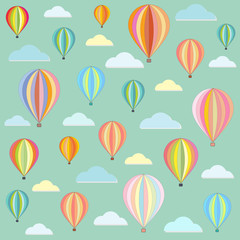 Balloon color abstract retro pattern