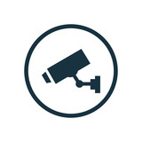 security camera circle background icon. - 70309544