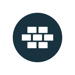 brick wall circle background icon.