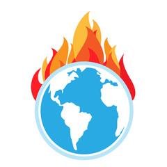 Global warming. Fire on Earth