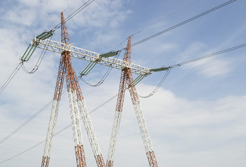 Pole for high voltage electical energy