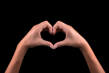 Girl hand in heart