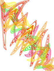 An abstract psychedelic line desgin