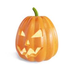 Jack O Lantern halloween pumpkin with candle light inside