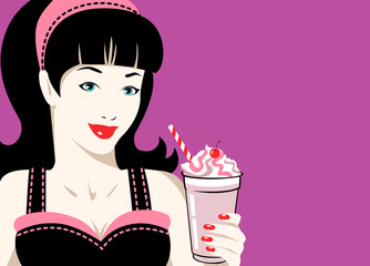 Girl with frappe