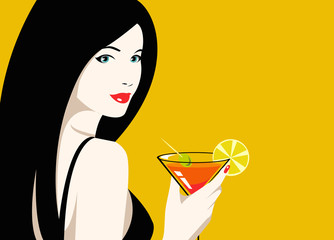 Girl drink cocktail