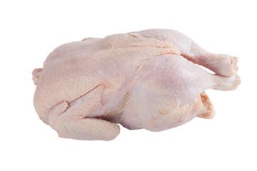 frozen chicken isolated on white background