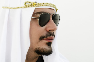 Profile of arab man