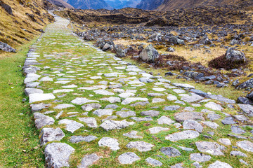 Paved Incan Road