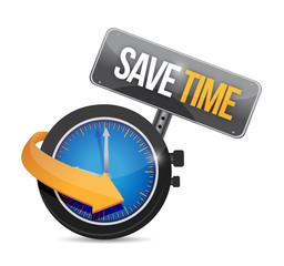 save time watch concept illustration design