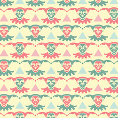 Abstract seamless pattern - art nouveau