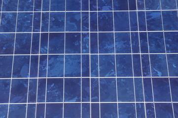 Solar panel closeup  in sunny day