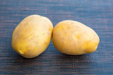 Close up of fresh organic potato