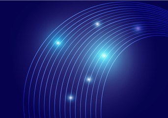 abstract  technology line curve vector background