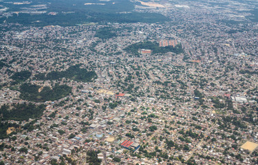 Aerial view of Manaus city, brazil