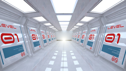 Futuristic ship interior module