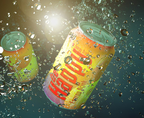 Be happy soda can