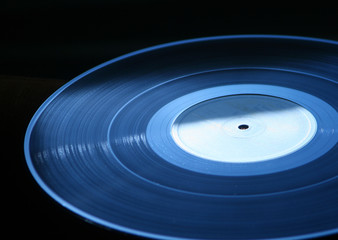 Vinyl record - LP dark blue