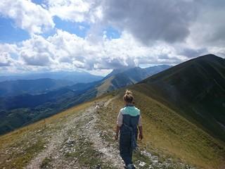 Escursionista monti sibillini