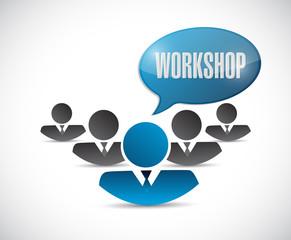 teamwork workshop message illustration design