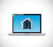 real estate computer icon illustration design