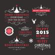 Christmas decoration set of design elements and holidays wishes