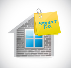 home property tax concept illustration design