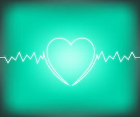 Life line Signs on heart shape