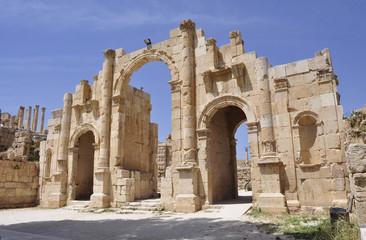 Giordania. Jerash. Gerasa. Porta meridionale città romana