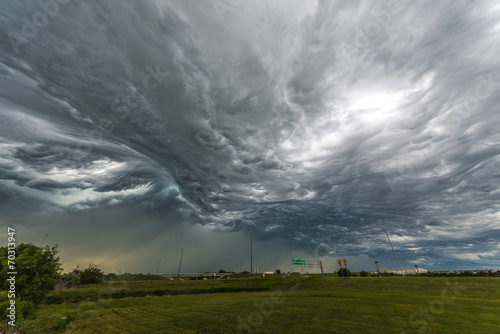 Tornado Clouds over the interstate - 70313947