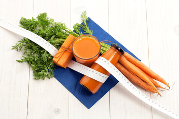 Carrot juice for healthy dieting