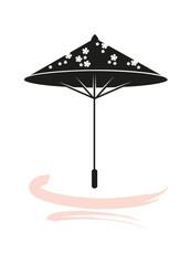 japanischer Bambus Sonnenschirm