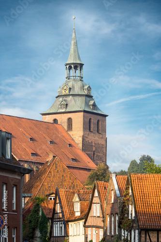 canvas print picture das historische Zentrum von Lüneburg, Deutschland