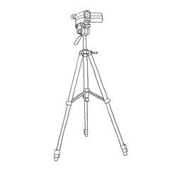 camcorder on a tripod. vector illustration